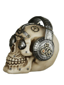 Large Steampunk Style Skull with Headphones