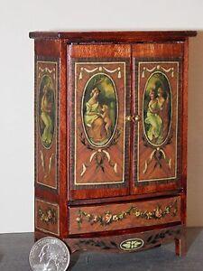 Dollhouse Miniature Armoire Wardrobe Closet Sheraton Collection 1:12  scale K42