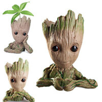 Baby Groot Guardians of The Galaxy Tree Man Figure Flowerpot Pen Pot Child Gift