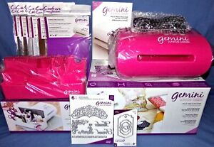Crafter's Companion Gemini Jr Pink Die Cutting Embossing Machine Pink Caddy RARE