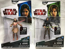 """Star Wars The Legacy Collection 2009 """"Jaina & Jacen Solo"""" BD59 & BD60 Figure New"""