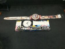 space age swatch wall clock swiss maxi masquerade gp105 large