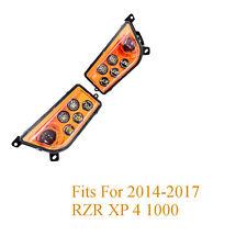 Set 2 Orange LED Headlight Conversion for 2014 - 2017 RZR XP 4 1000 for Polaris