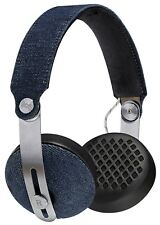 House Of Marley Rise BT Bluetooth Wireless Headphones Mic3+ On-Ear Remote Denim