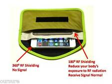 RFID Shielding Cell Phone Case Handset Function Porch Canvas Green 8900209
