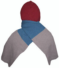PAUL SMITH SOFT WOOL MULTICOLORED HOODED SCARF 100% WOOL MADE IN UK BNWT RARE