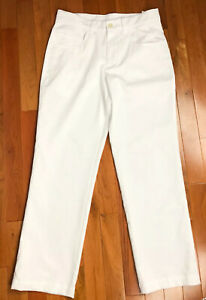 New Puma Women's Size L (27x26) White Golf Polyester Blend Athletic Pants NWOT