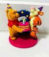 DISNEY CHINA Happy Birthday Age 3 Porcelain Figurine Winnie the Pooh & Tigger