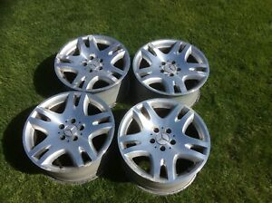 "Set of 4 Mercedes W211 17"" Alloy wheels in need of refurbishment"