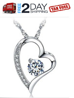 Neckless for Girls Cute Necklace for Girlfriend Teen Friendship Love White Gold