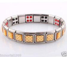 Bracelet Titanium 20 Germanium 20 ions négatif,Nano énergie magnétique