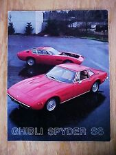 Maserati Ghibli Sales Brochure Spyder SS Coupe Versions MIE Corp.