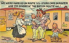 Vintage Travel Trailer Art Funny Divorce Comic Refrigerator / Tool  Box  Magnet