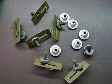 6 pcs GM body side door trunk quarter belt moulding clips mastic sealer nuts NOS