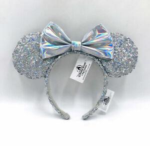 Silver 2021 Minnie Ears Mickey Cinderella Magic Mirror Disney Parks Headband