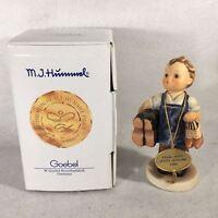 """Goebel Hummel Figurine TMK7 #143/0 """"Boots"""" 5 1/2"""""""