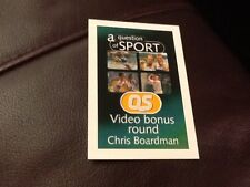 Chris Boardman / Cycling / A Question of Sport game card / 1999