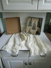 Vtg 1890's Ladies White Ruffled Cotton Pantaloons Bloomers w Original Box Vhtf