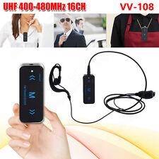 Mini 2 x VV-108 400-480MHz dos vías Radio Walkie Talkie+Auricular USB