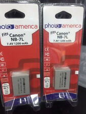 PHOTOAMERICA Battery (1-Pack) for Canon NB-7L, CB-2LZE work with Canon PowerShot