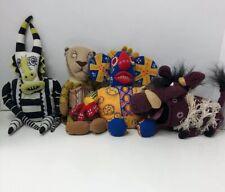 The Lion King Broadway Musical Bean Bag Plush Dolls - Lot of 4
