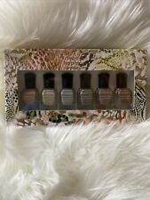 Deborah Lippmann Wild Safari Pro Color & Contour Brush Set of 6 Nail Polish- NEW