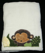 Kidsline Cream Baby Blanket Monkey Leaves Jungle 123