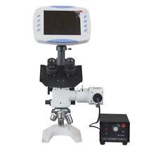 "Trinocula Metallurgy Digital Microscope w 6"" LCD - 2MP TV Camera - SD card Slot"