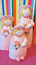 Pottery Artwork, Sisters In Pink,  Japan, 3 Vases . Henrikson Imports Inc.