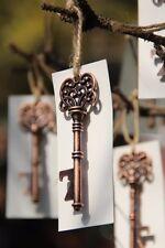 50 Vintage keys Bottle Opener Copper  White Tag Wedding Favor Escort Cards Gift