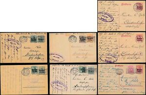 BELGIUM OCCUPATION 1915-18 UPRATED STATIONERY GERMANIA...10 CARDS