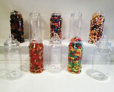 **SLIGHT SECONDS*** 10 x 970ml Victorian Plastic Sweet Jars Candy Buffet Wedding