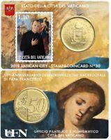 Stamp+Coincard 50 Cent Vatikan 2019 Nr.30