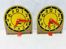 Mini-Clock Set Judy Instructo Vintage Home School Supplies Educational Tell Time