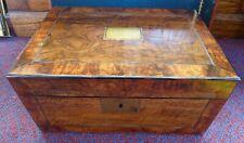 Antique Wooden Victorian Writing slope box Hidden compartment Alice Bastard 1889