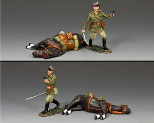 KING & COUNTRY FIELDS OF BATTLE FOB170 DEFIANT POLISH OFFICER WITH DEAD HORSE