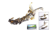 """15"""" Fantasy Eagle and Snake Dagger Silver W/ Gold Accent"""