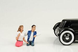 Pair Couples 2 Figures Set B Figurines 1:18 American Diorama / No Car Hot Rock