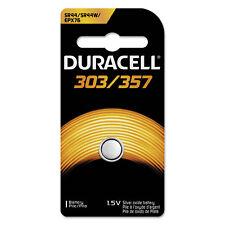 Duracell Button Cell Silver Oxide Calculator/Watch Battery 303/357 1.5V 1/Ea