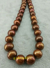 """18"""" AAA 12-13 MM SOUTH SEA NATURAL CHOCOLATE  PEARL NECKLACE 14K GOLD CLASP"""