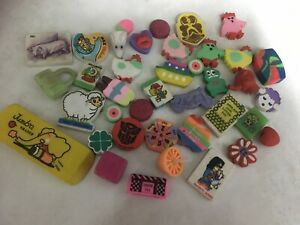 Vintage Collectable Erasers 80's And 90's