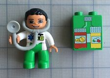 Duplo Male Doctor With Stethoscope Figure  Piece With Medicine Pills Block