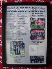 St Mirren Scottish Championship champions 2018 - framed print