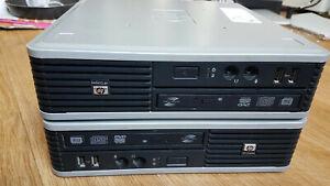 Faulty 2 x HP Compaq dc7800p Ultra Slim Desktop USFF 4 GB RAM 160 HD DC7800