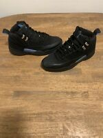 2003 NIKE AIR JORDAN XII 12 RETRO NUBUCK BLACK BLUE Sz 10.5 136001-014 Has Flaws