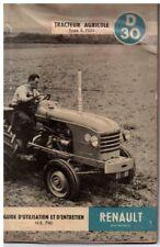---► Livret Entretien TRACTEUR RENAULT D30 tractor Traktor French