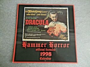 Hammer Horror Films Official 1998 Calendar ** EXCELLENT **