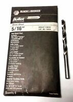 """Black and Decker Bullet Drill Bits 5/16"""" Pilot Point Bright Finish Set of 6"""