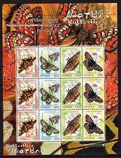 Weißrußland 557/60 ** KB Schmetterlinge Michel 22,00 (3093)