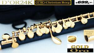 Piccolo Gold FLAUIT OTTIVANI Flautin FLAUTO ORO FLAUTI Flûte piccolo Or